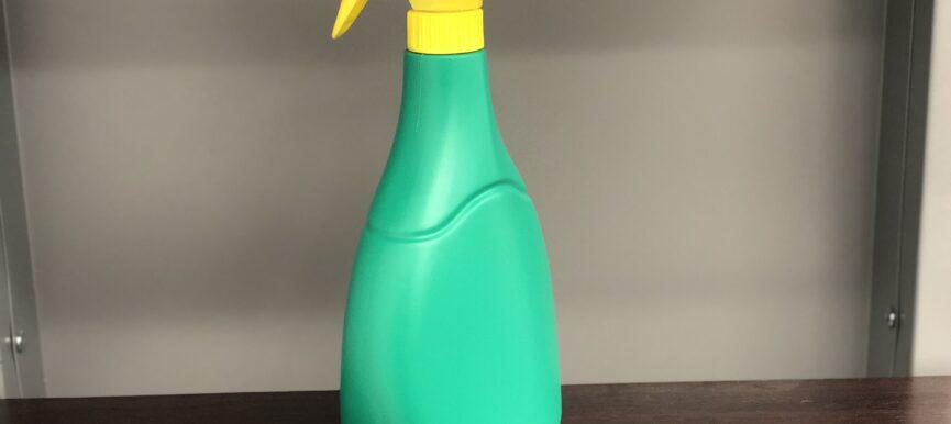 Green Spray Bottle (34 oz) for Cleaner